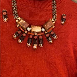 🥰Necklace with Earrings Fall Colors EUC